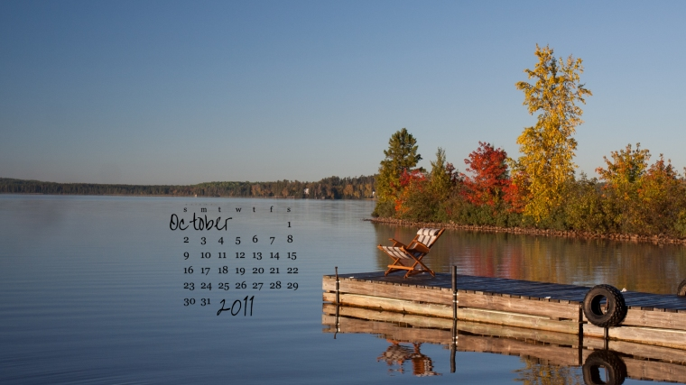 free desktop calendar october 2011