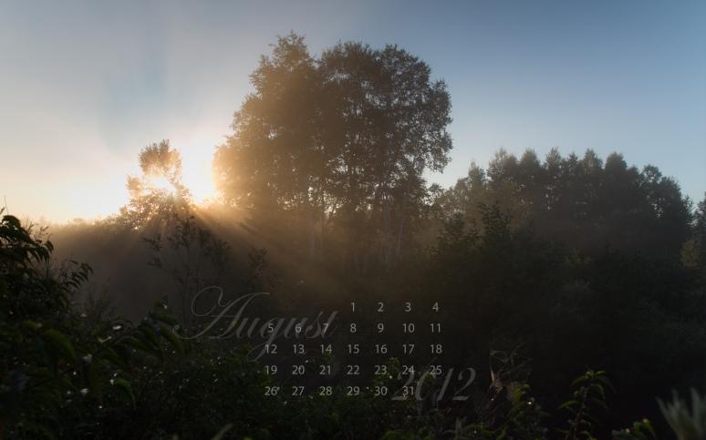 free desktop nature calendar august 2012
