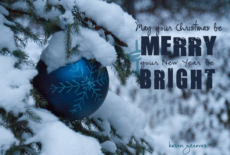 merry and bright greeting 2012