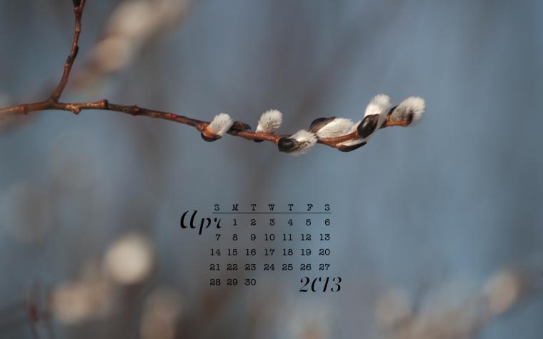 free desktop calendar april 2013 1440x900