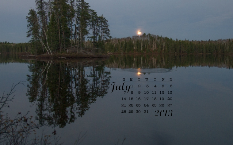 free desktop calendar July 2013 1440x900