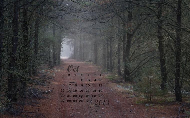 free desktop calendar october 2013 1440x900