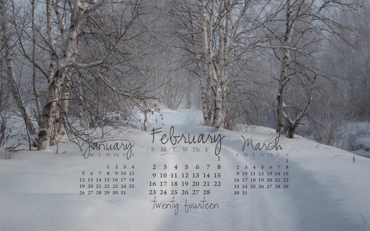 free desktop calendar February 2014_1440x900