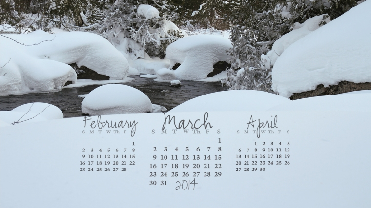free desktop calendar March 2014_1600x900