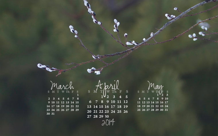 free desktop calendar April 2014_1440x900