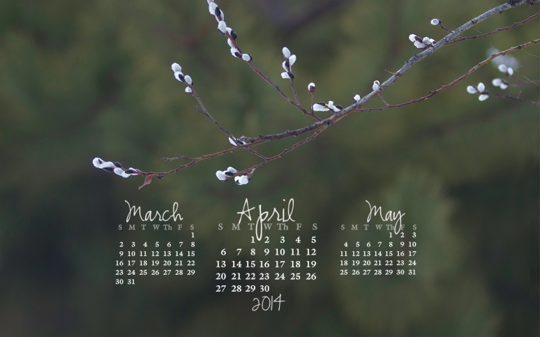 free desktop calendar April 2014_1440x900