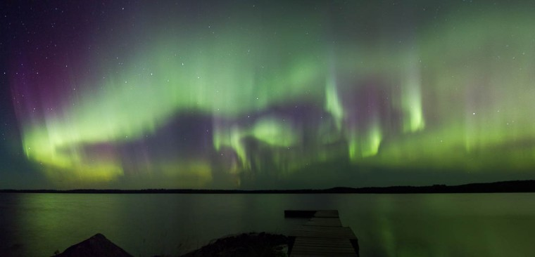 Aurora over Sandbar Lake