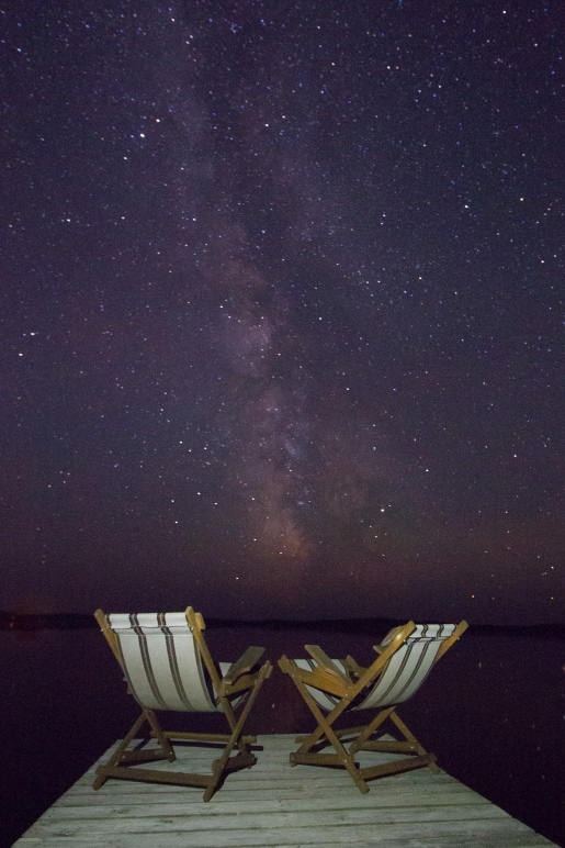 Milky Way at end of dock