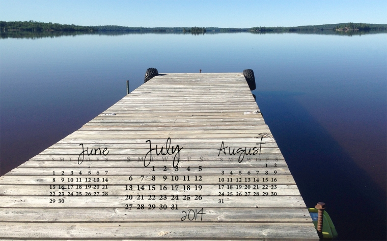 free desktop calendar July 2014_1440x900