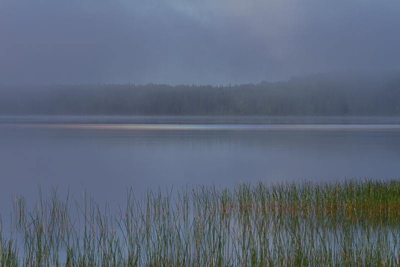 fog generated prism on lake