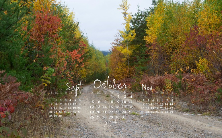free desktop calendar October 2014_1440x900