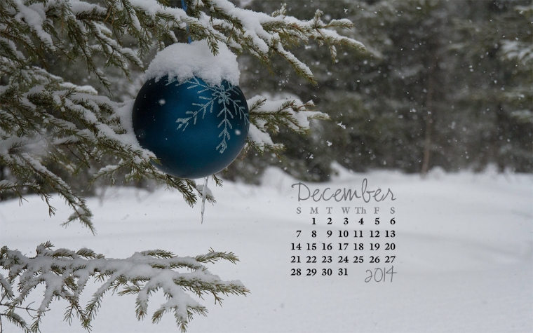 free desktop calendar December 2014_1400x900