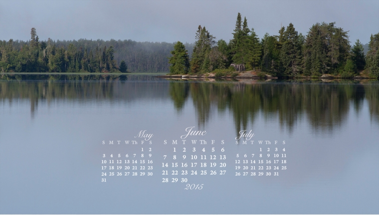free desktop calendar June 2015_1600x900