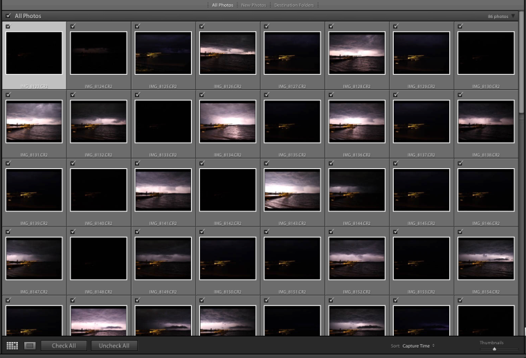 lightning shoot thumbnails