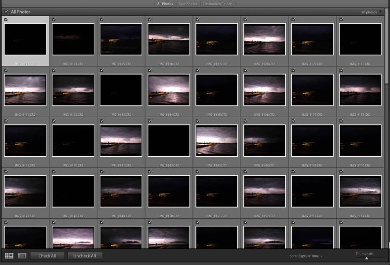 lightning shoot thumbnails