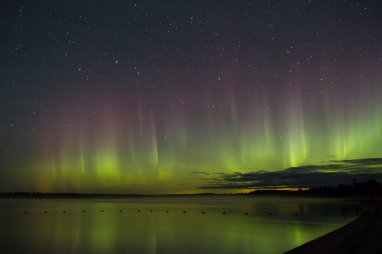 aurora at sandbar lake