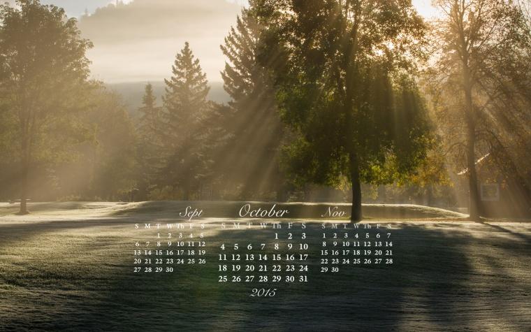 free desktop calendar Oct 2015_1440x900