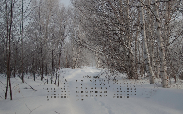 free desktop calendar february 2016