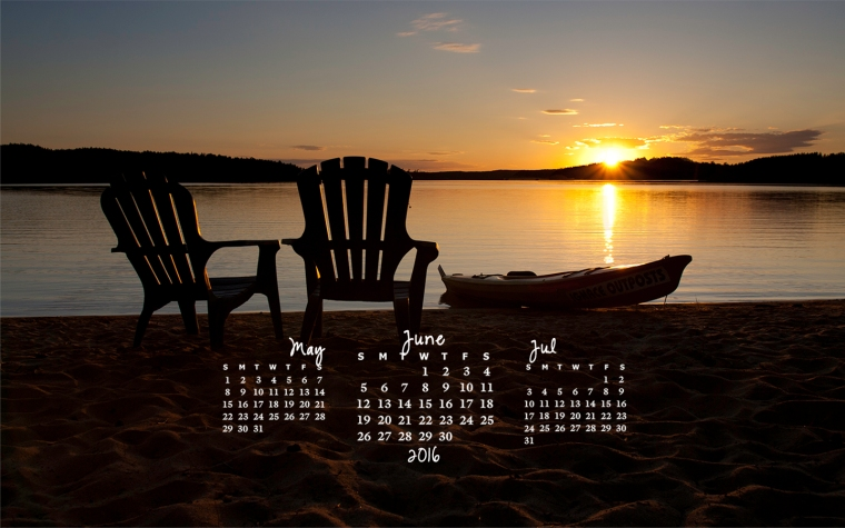 free desktop calendar June 2016_1440x900