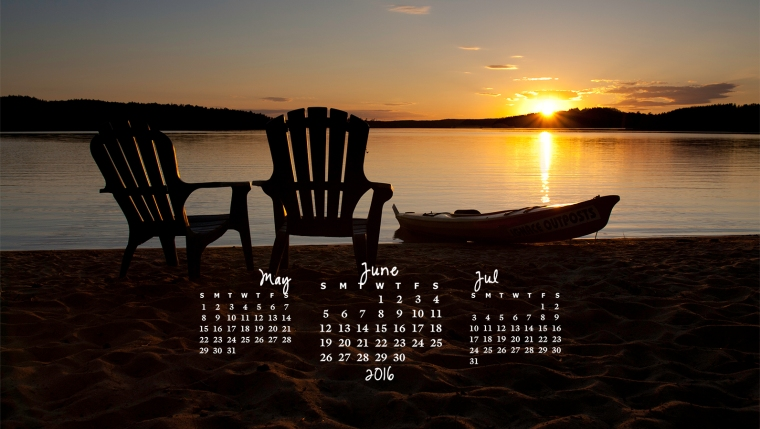 free desktop calendar June 2016_1600x900