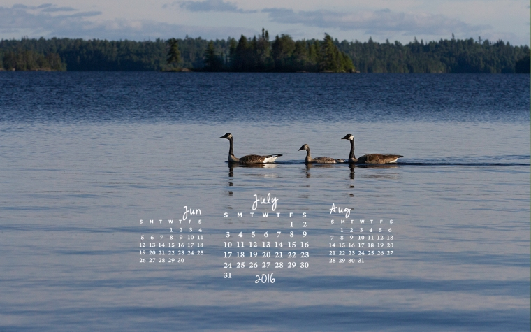free desktop calendar July 2016_1440x900