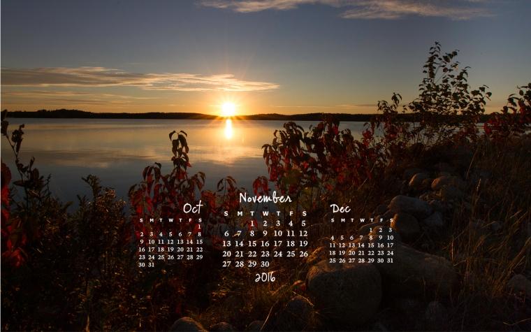 free desktop calendar November 2016_1440x900