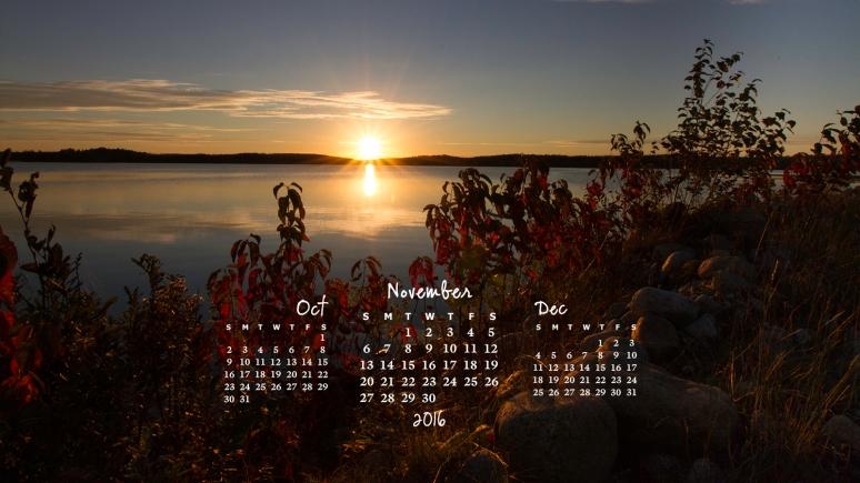 free desktop calendar November 2016_1600x900